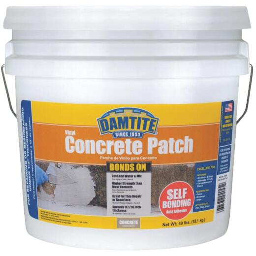 Damtite BondsOn 40 Lb. Gray Ready-to-Use Vinyl Concrete Patch