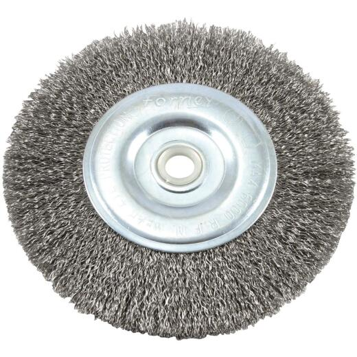 Forney 6 In. Crimped, Coarse .012 In. Bench Grinder Wire Wheel