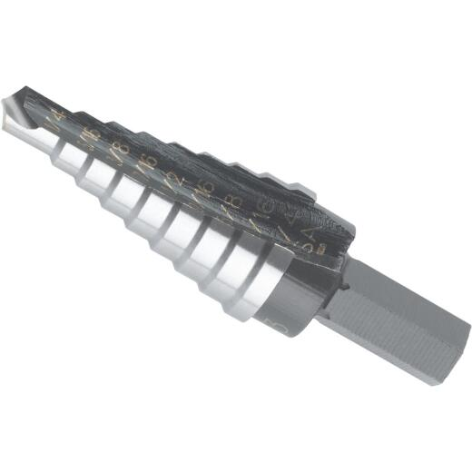 Irwin Unibit 1/4 In. - 3/4 In. #3 Step Drill Bit, 9 Steps