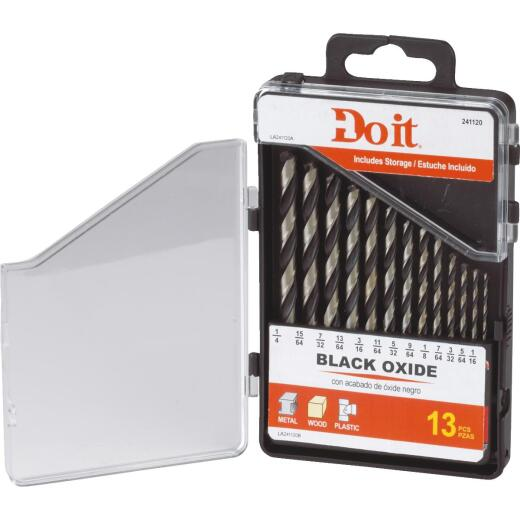 Do it 13-Piece Black Oxide Drill Bit Set, 1/16 In. thru 1/4 In.