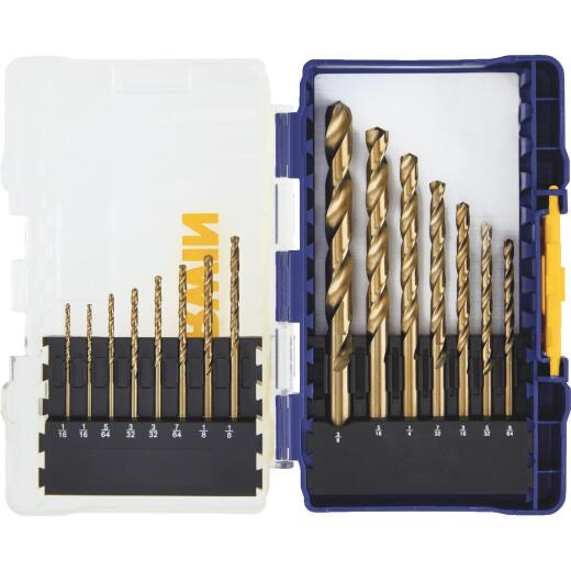 Irwin 15-Piece Cobalt Drill Bit Set, 1/16 In. thru 3/8 In.