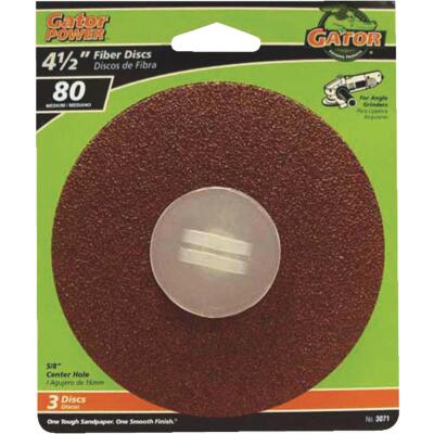 Gator 4-1/2 In. 80 Grit Fiber Disc (3-Pack)