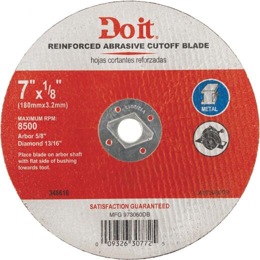 Do it Type 1 7-1/4 In. x 1/8 In. x 5/8 In. Metal Cut-Off Wheel