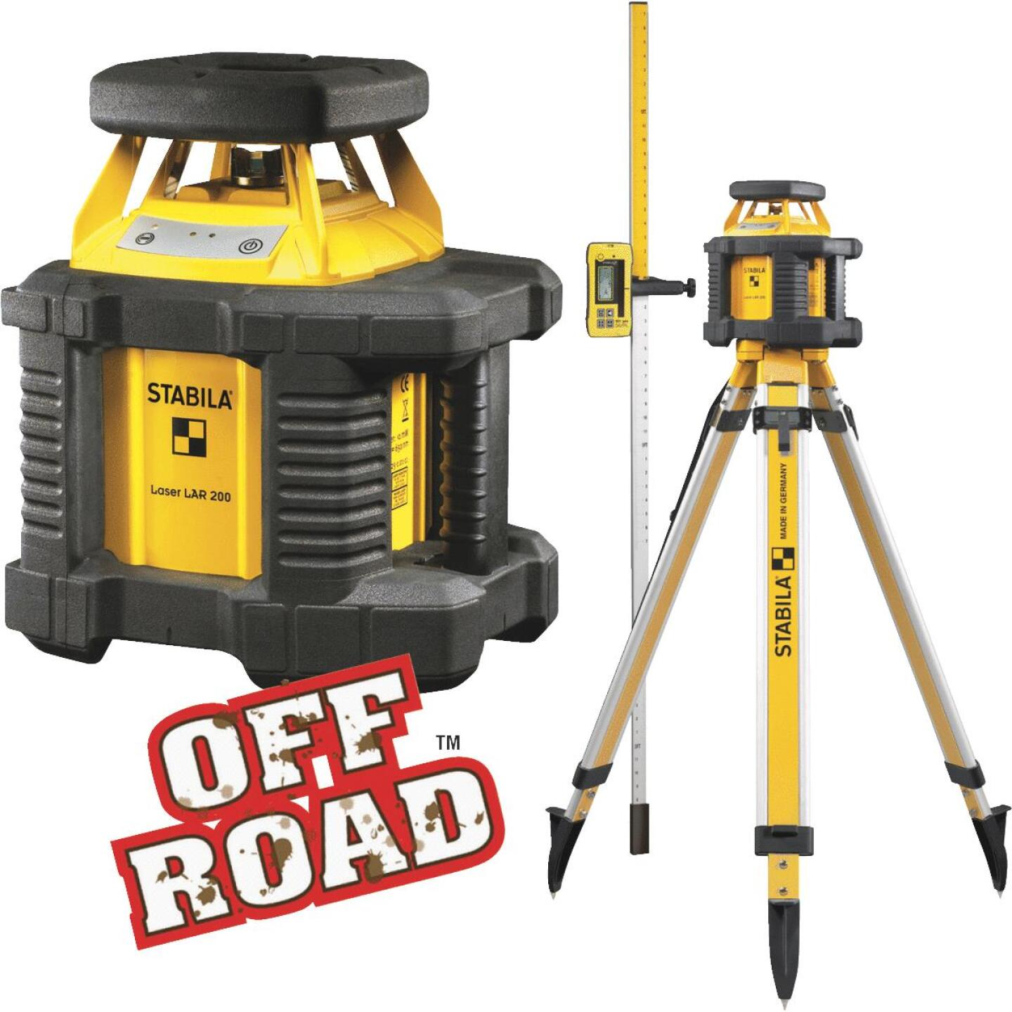 Stabila Off Road 100 Ft. Self-Leveling Rotary Laser Level Image 1