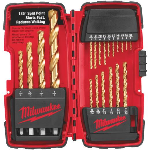 Milwaukee Thunderbolt 20-Piece Titanium Drill Bit Set, 1/16 In. thru 1/2 In.