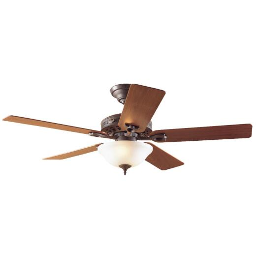 Hunter Astoria 52 In. New Bronze Ceiling Fan with Light Kit