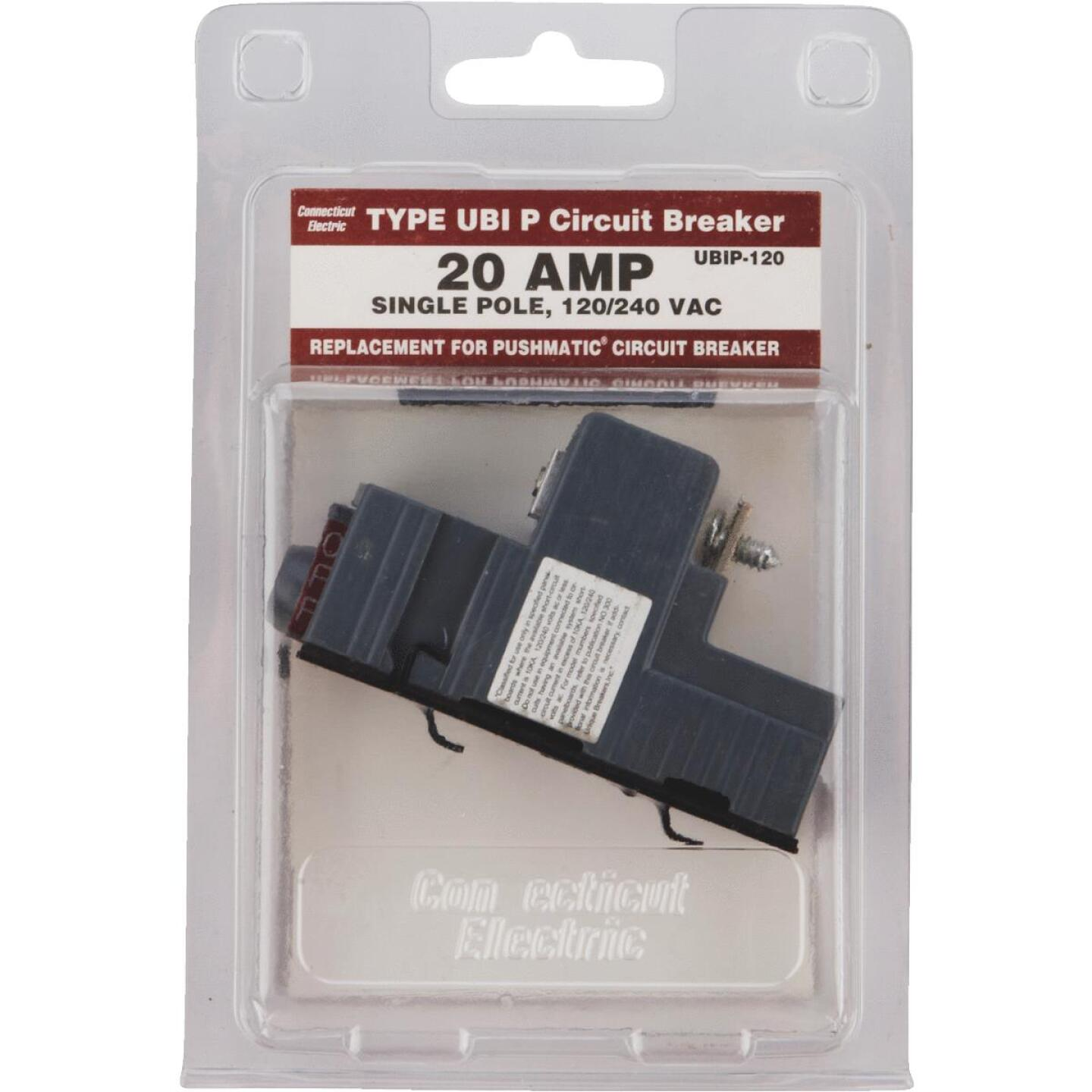 Connecticut Electric 20A Single-Pole Standard Trip Packaged Replacement Circuit Breaker For Pushmatic Image 2