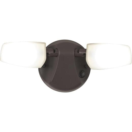 Halo Selectable Color Temperature Bronze LED Twin Head Floodlight Fixture