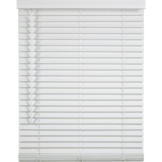 Home Impressions 32 In. x 64 In. x 2 In. White Faux Wood Cordless Blind
