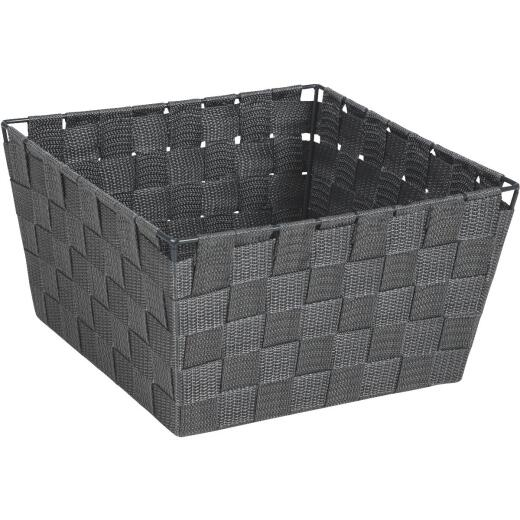 Home Impressions 9.75 In. x 5.5 In. H. Woven Storage Basket, Gray