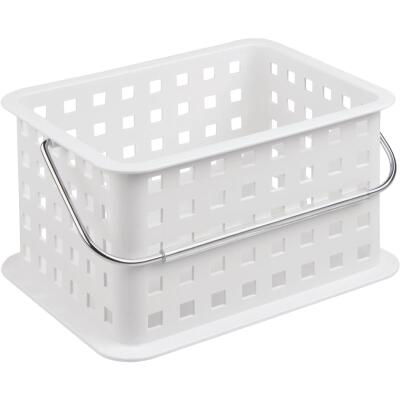 InterDesign Small White Plastic Basket