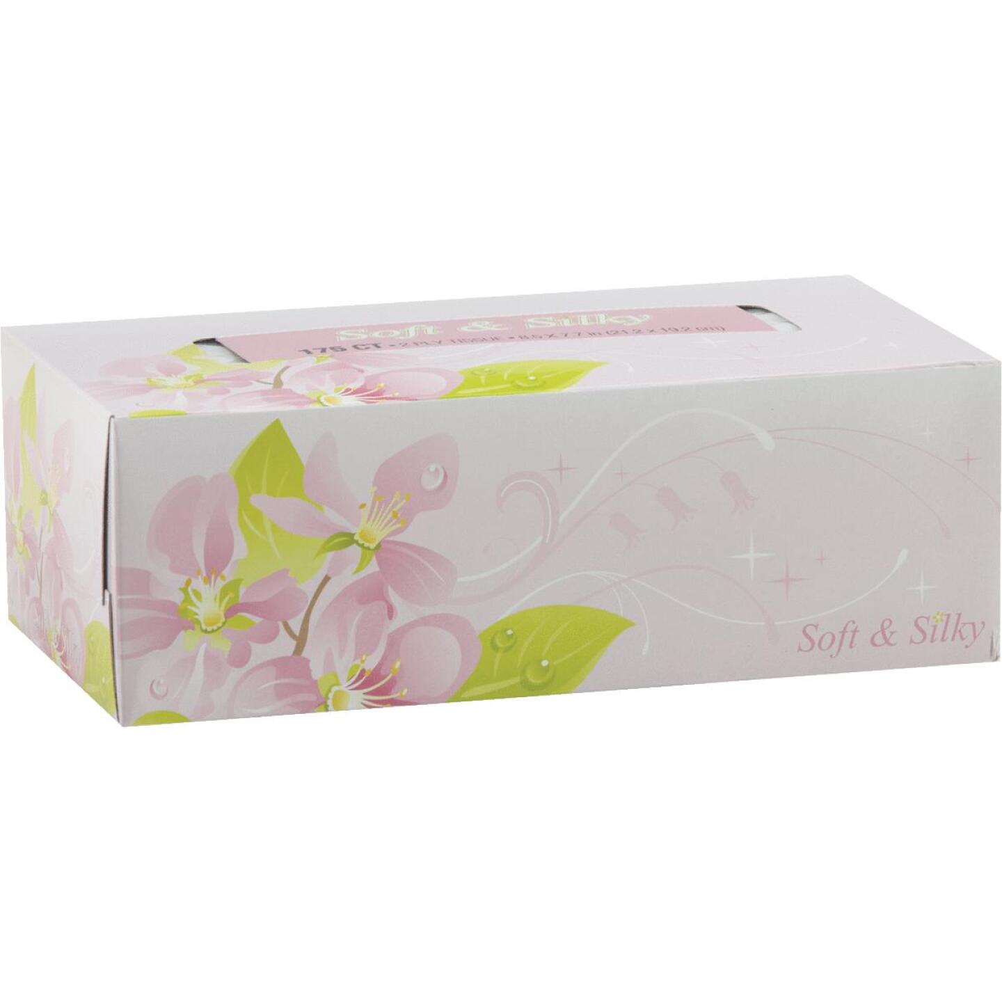 Soft & Silky 175 Count 2-Ply White Facial Tissue Image 1