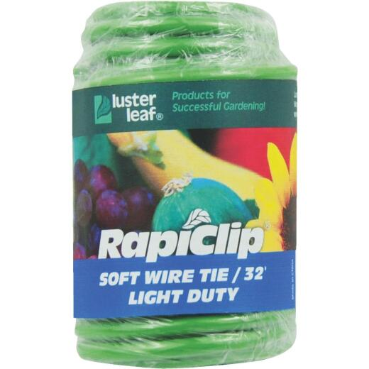 Rapiclip 32 Ft. Green Soft Wire Plant Tie