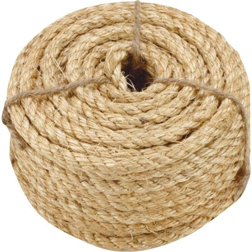 Do it 3/8 In. x 50 Ft. Natural Twisted Sisal Fiber Packaged Rope
