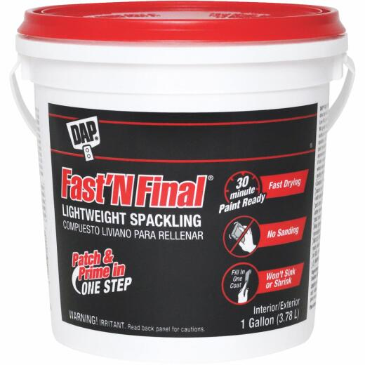 DAP Fast 'N Final 1 Gal. Lightweight Latex Patch & Prime Spackling