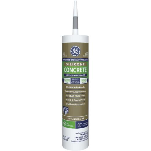 GE Concrete Silicone 2 Sealant, Lt. Gray, 10.1oz